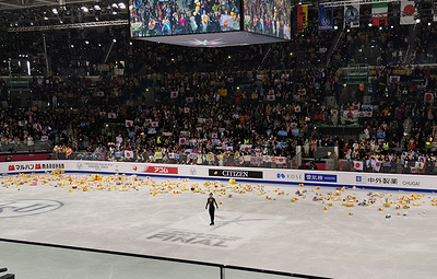 Выступление Чена в финале Гран-при задержано из-за выброшенных для Ханю на лед игрушек