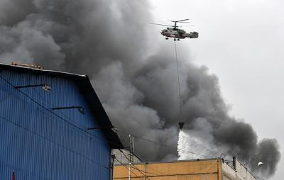 На складе на юге Москвы потушили пожар
