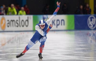 Российский конькобежец Муштаков стал первым на 500 м на этапе КМ, Кулижников - второй