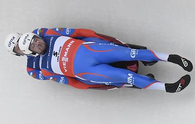 Россияне Денисьев и Антонов стали победителями ЧЕ по санному спорту в соревновании двоек
