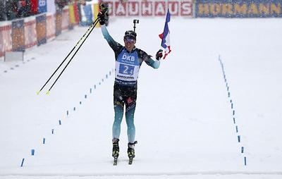 Французские биатлонисты выиграли эстафету на этапе КМ в Рупольдинге
