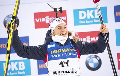 Норвежская биатлонистка Экхофф выиграла гонку преследования на этапе Кубка мира в Германии