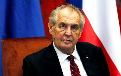 Земан назвал Путина сильным политиком