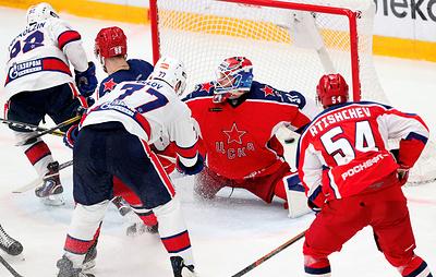 ЦСКА в четвертый раз в сезоне обыграл СКА в матче КХЛ