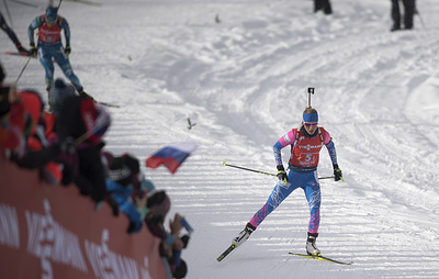 Сборная России заняла 13-е место в сингл-миксте на этапе КМ по биатлону в Словении