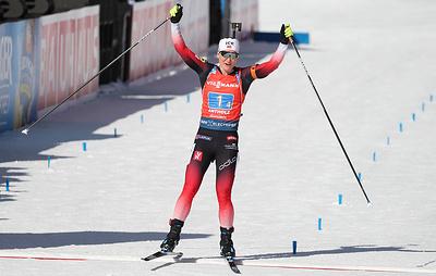 Норвежская биатлонистка Рёйселанн выиграла масс-старт на чемпионате мира в Антхольце