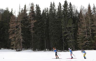 Российские биатлонисты заняли четвертое место в медальном зачете чемпионата мира в Италии