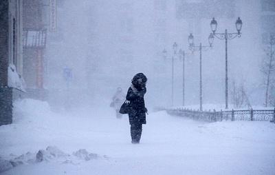 В Норильске объявили штормовое предупреждение из-за сильного ветра