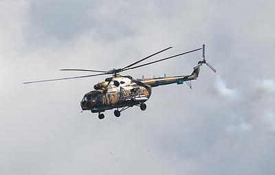 В Подмосковье совершил жесткую посадку военный вертолет Ми-8