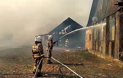 В МЧС назвали вероятную причину крупного пожара в Самарской области