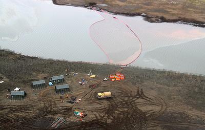 Площадь загрязнения нефтепродуктами в Норильске составила 180 тыс. кв. м