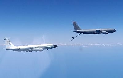Истребитель Су-30 поднимался на перехват самолетов-разведчиков ВВС США над Черным морем