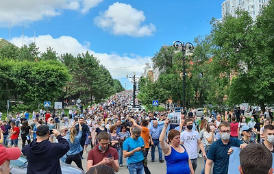 В Хабаровске проходит несогласованная акция в поддержку губернатора края Фургала