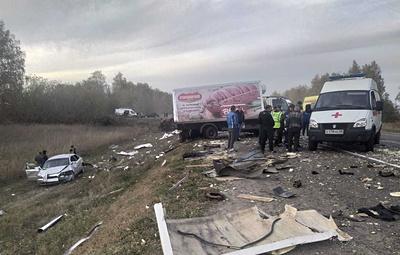 В Тамбовской области столкнулись шесть автомобилей