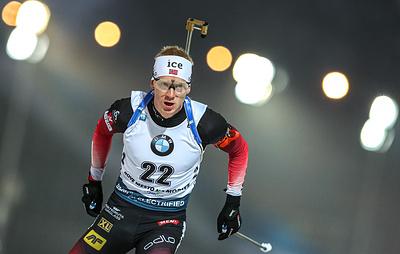 Йоханнес Бё одержал победу в спринте на этапе КМ по биатлону
