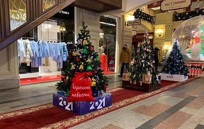 Новогодняя елка ТАСС украсила ГУМ