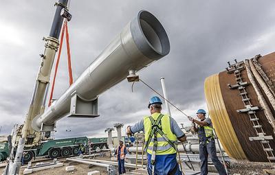 Bloomberg: Nord Stream 2 планирует завершить строительство Северного потока - 2 в июне