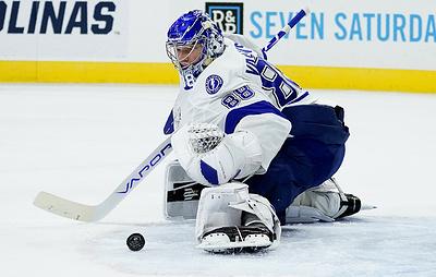 """Голкипер """"Тампы"""" Василевский признан первой звездой недели в НХЛ"""