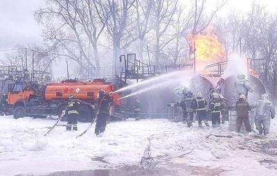 Открытое горение на АЗС в Барнауле ликвидировали на площади 100 кв. м