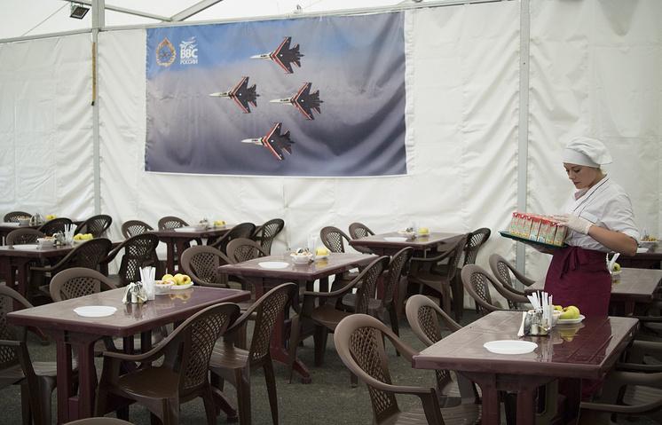 Russian military canteen at Hmeymim air base near Syria's Latakia
