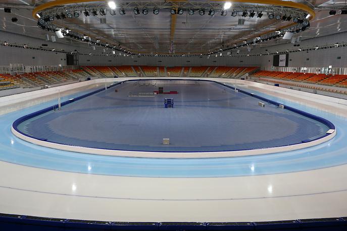 Indoor speed skating stadium Adler Arena at Sochi's Olympic Park