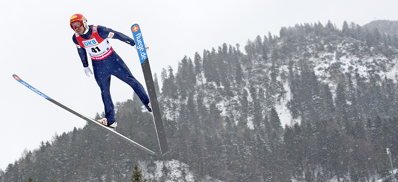 Nordic Combined World Cup in Oberstdorf, southern Germany, on Jan. 26, 2014