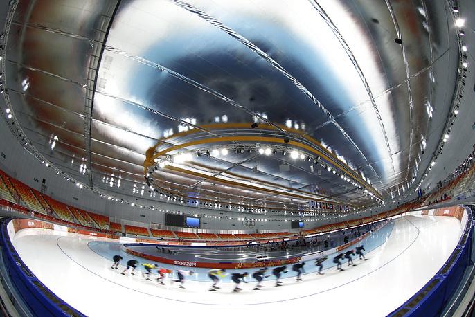 Sportsmen train ahead of the Sochi 2014 Olympics