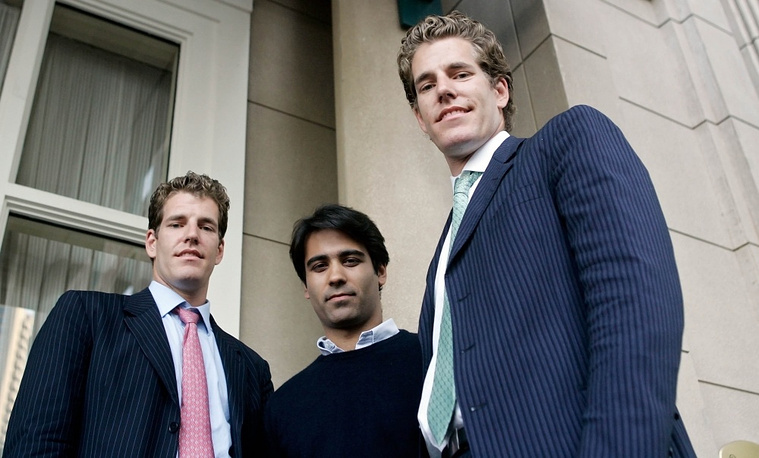 Social network ConnectU founders Cameron Winklevoss, Tyler Winklevoss, and Divya Narendra filed a suit against Zuckerberg for allegedely stealing their idea