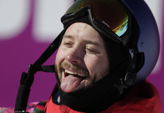 Britain's snowboarder Billy Morgan