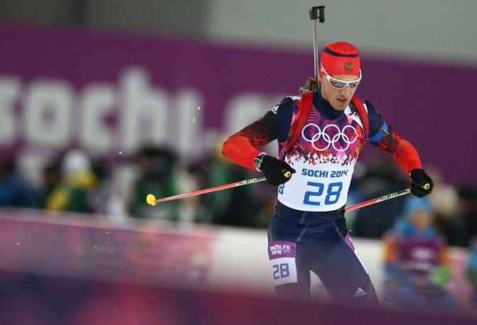 Russian biathlete Dmitry Malyshko