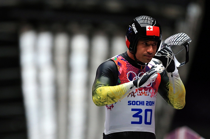 Tongan luger Bruno Banani is the only athlete from the tiny Pacific country with a population of 120,000 people. Tonga has been participating in winter Olympics since 1984