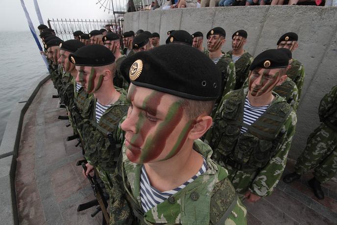 Servicemen of the Russian Black Sea Fleet