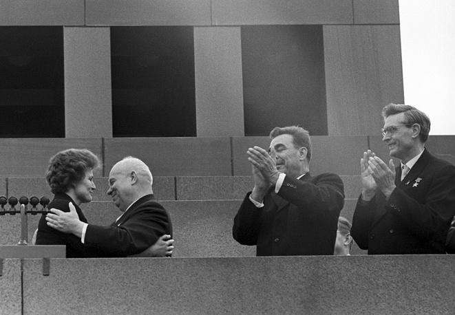 Nikita Khrushchev congralulates Tereshkova