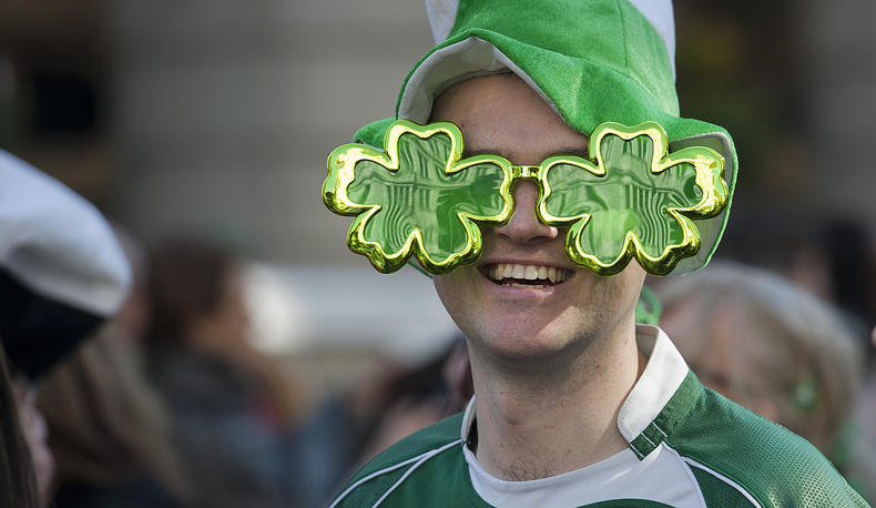 St. Patrick's Day parade in central London