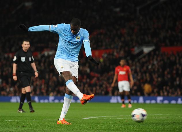 Yaya Toure scores the third goal