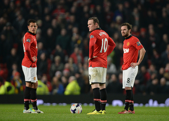 Javier Hernandez, Wayne Rooney and Juan Mata