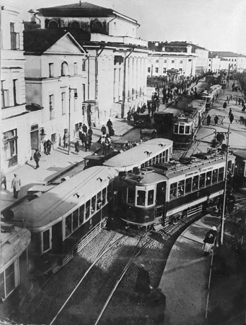 Trams in Moscow in 1954