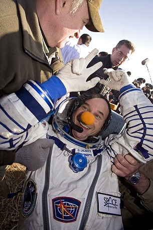 Guy Laliberte, co-founder and the current CEO of Cirque du Soleil from Canada, travelled to the ISS in October 2009, paying $35 mln