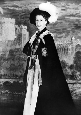 Queen Elisabeth in 1956