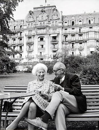 Nabokov with his wife Vera in Switzerland, 1967