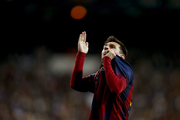 Second is FC Barcelona's Lionel Messi with $65 million