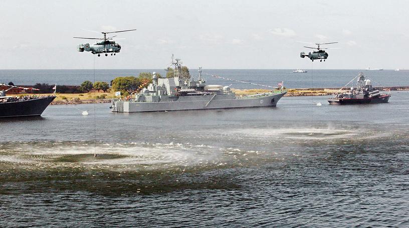 The Russian Baltic See Fleet's major amphibious ship Minsk
