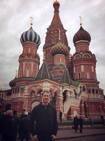 In 2012 Facebook CEO visited Russia for the first time