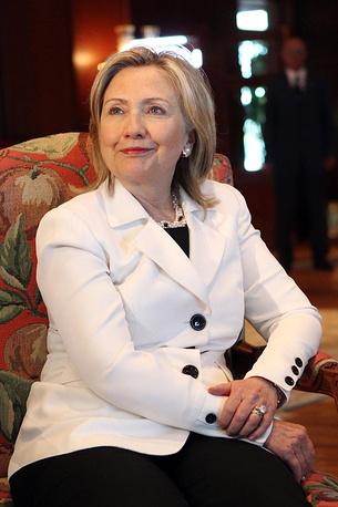 Former US Secretary of State Hillary Clinton