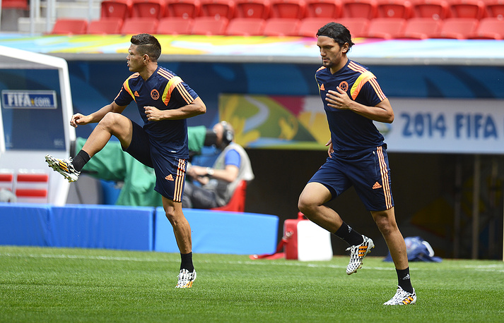 Colombia national team training session