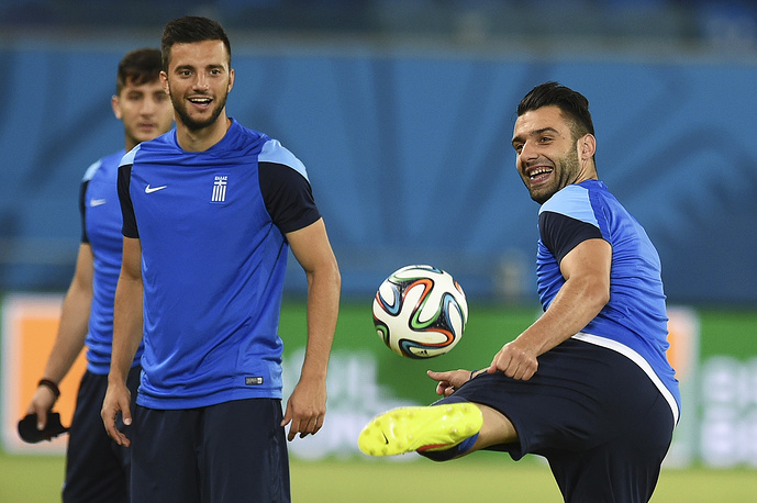 Greece national team training session