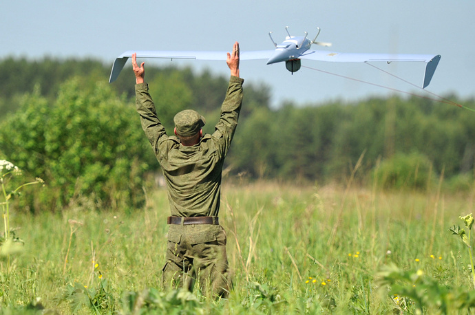Launch of the unmanned flying vehicle Zastava