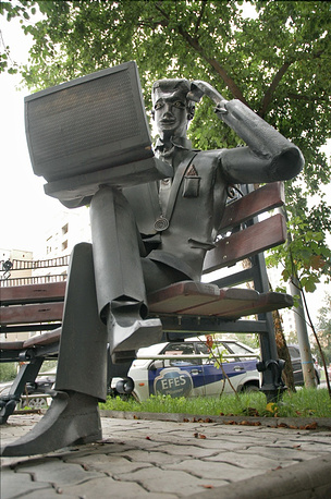 Sculpture of a real estate agent in Yekaterinburg