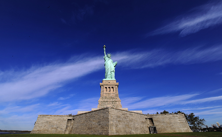 The Statue of Liberty was a gift to the US from the people of France. The statue is an icon of freedom and of the United States