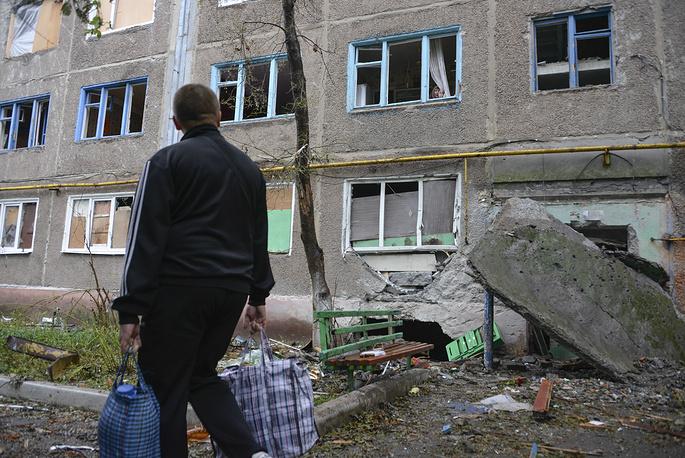 A local man in Sloviansk